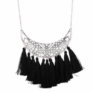 Crescent Tassel Pendant Necklace