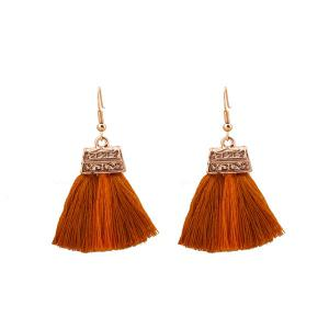 Alloy Tassel Infinity Emebllished Drop Earrings