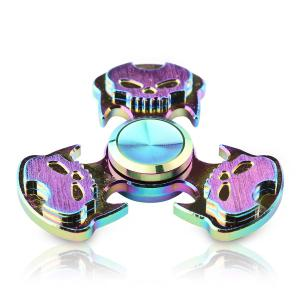 Antistress Rainbow Skull Triangle Hand Spinner -