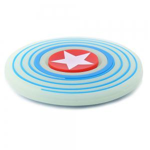 Glow In The Dark Star Pattern Round Silicone Fidget Spinner - TURQUOISE