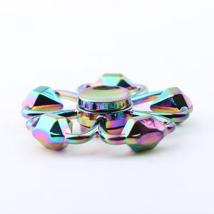 Colorful Diamond Shape Flower Fidget Metal Spinner Anti-stress Toy -