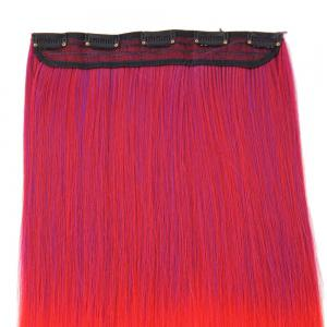 Ombre Short Straight Clip In Hair Extensions - RED