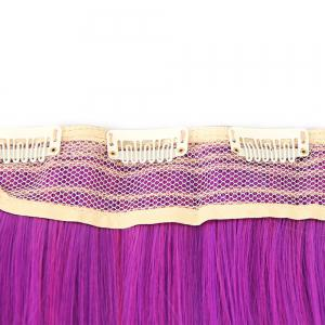 Ombre Short Straight Clip In Hair Extensions - Pourpre