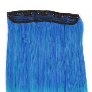 Ombre Short Straight Clip In Hair Extensions - BLUE/GREEN