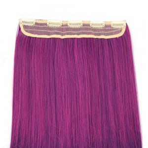 Ombre Short Straight Clip In Hair Extensions - Bordeaux