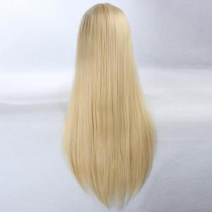 Ultra Long Side Bang Layered Glossy Straight Synthetic Naruto Cosplay Anime Wig - SUNFLOWER