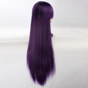 Ultra Long Side Bang Layered Glossy Straight Synthetic Naruto Cosplay Anime Wig - CONCORD