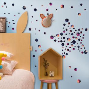 DIY Circle Galaxy Wall Sticker For Kids Room - COLORMIX 45*50CM