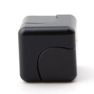 Stress Relief Alloy Cube Hand Spinner - Noir