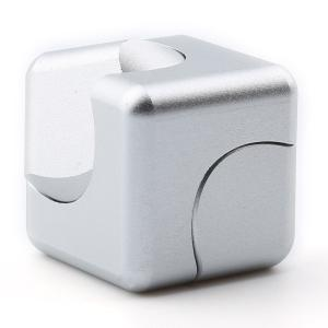 Stress Relief Alloy Cube Hand Spinner - SILVER