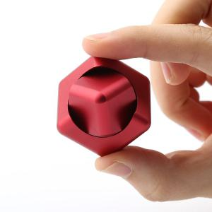 Stress Relief Alloy Cube Hand Spinner - RED