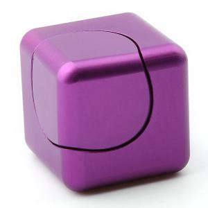 Stress Relief Alloy Cube Hand Spinner - Pourpre