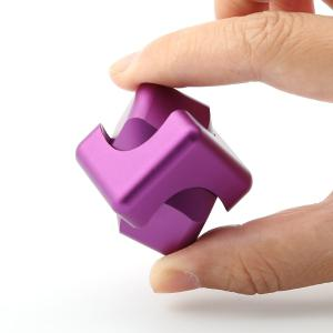 Stress Relief Alloy Cube Hand Spinner - Purple - 5.5*5.5*1.5cm