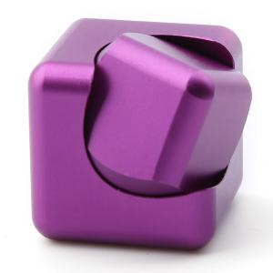 Stress Relief Alloy Cube Hand Spinner - PURPLE