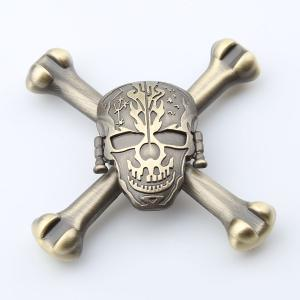 Finger Toy Skull Design EDC Metal Fidget Spinner