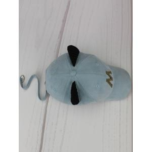 Cat Ear Metal Letter Embellish Long Tail Hat - LIGHT BLUE