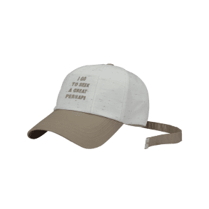 Letters Embroidered Long Tail Baseball Hat - WHITE