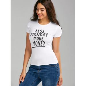 Less Monday More Money Graphic T Shirt -