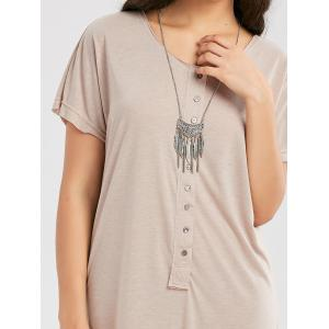 Casual Button Up Maxi T Shirt Dress -
