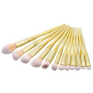 Face Eye Glitter Makeup Brushes Set - Luxury Gold Color