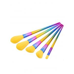 Ombre Handle Makeup Brushes Set - Multi