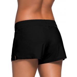 Drawstring Tied Swim Boyshort -