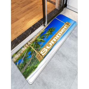 Tropical Summer Bathroom Flannel Skidproof Rug