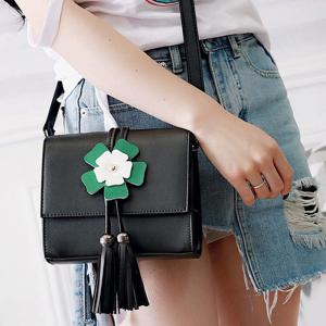 Flower Tassels Mini Crossbody Bag