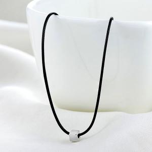 Artificial Leather Rope Cube Collarbone Necklace