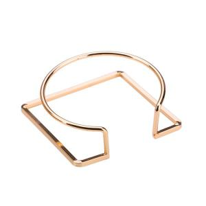 Alloy Metal Geometric Circle Cuff Bracelet