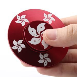 Bauhinia Fidget Toy Hand Spinner Relaxation Gift - RED 6*6*1.2CM