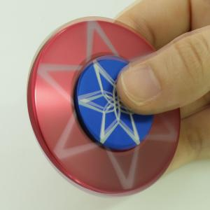 Round Metal Anti Stress Finger Gyro Spinner - Rouge 6*6*1.2