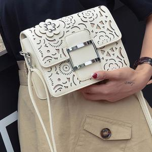 Buckled Laser Cut Crossbody Bag