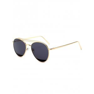 Anti UV Double Metal Crossbar Pilot Sunglasses