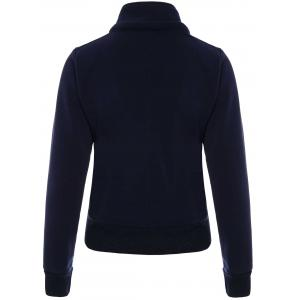 High Neck Double-Breasted Hoodie -