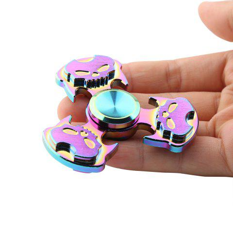 Discount Antistress Rainbow Skull Triangle Hand Spinner COLORFUL