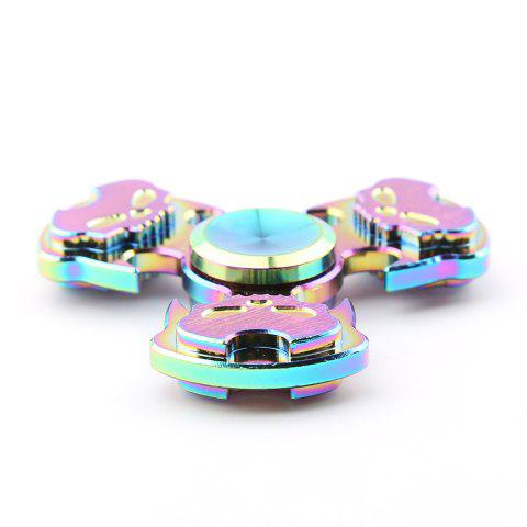 Cheap Antistress Rainbow Skull Triangle Hand Spinner - COLORFUL  Mobile