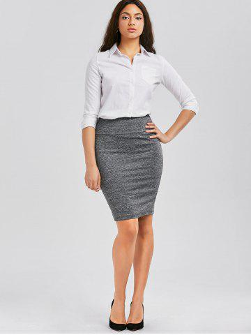 Outfits Formal Knee Length Pencil Skirt - M GRAY Mobile