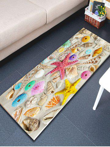 Best Beach Style Shell Starfish Print Bathroom Rug - W16 INCH * L47 INCH COLORMIX Mobile
