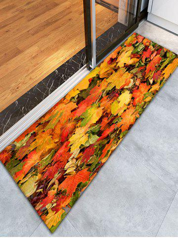 Affordable 3D Maple Leaf Print Flannel Skidproof Bathroom Rug - W16 INCH * L47 INCH YELLOW ORANGE Mobile