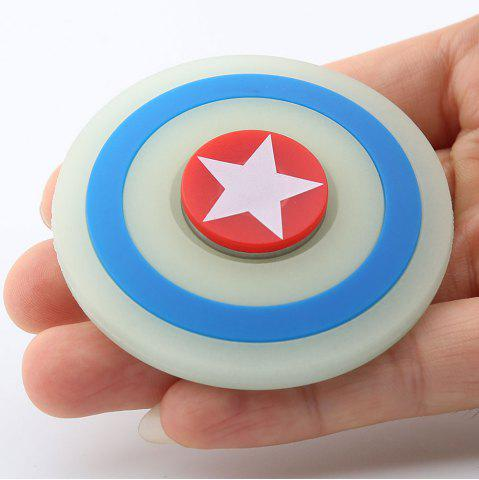 Hot Glow In The Dark Star Pattern Round Silicone Fidget Spinner TURQUOISE
