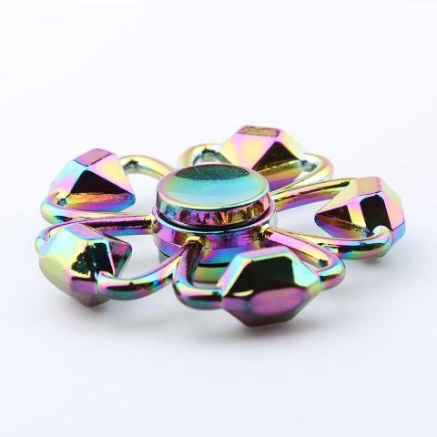 Buy Colorful Diamond Shape Flower Fidget Metal Spinner Anti-stress Toy - COLORMIX  Mobile