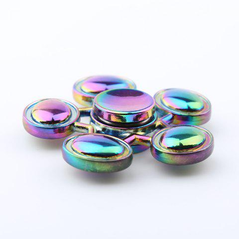 Unique Oval-bar Star Colorful Fidget Metal Spinner Anti-stress Toy - COLORMIX  Mobile