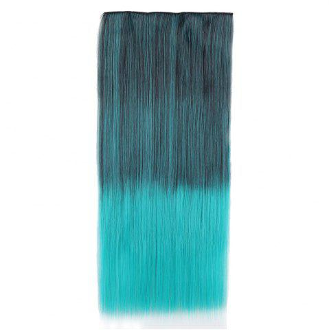 Affordable Ombre Short Straight Clip In Hair Extensions