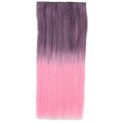 New Ombre Short Straight Clip In Hair Extensions BLACK/PINK