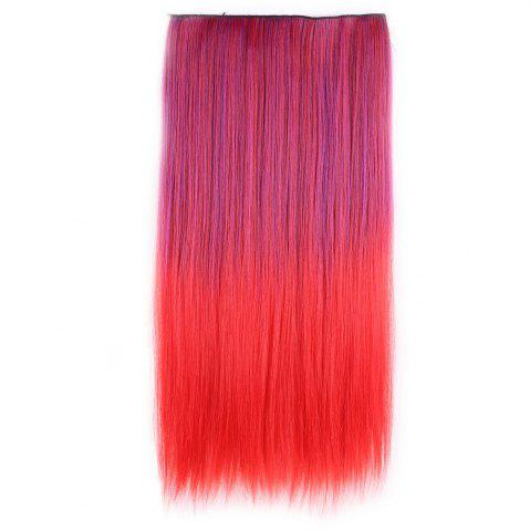 Shop Ombre Short Straight Clip In Hair Extensions RED