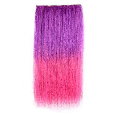 Ombre Short Straight Clip In Hair Extensions Pourpre