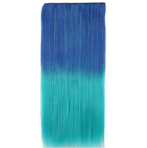 Chic Ombre Short Straight Clip In Hair Extensions BLUE/GREEN