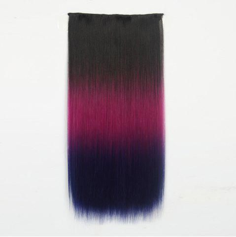 Affordable 1Pc Long Straight Multi Color Ombre Clip In Hair Extensions