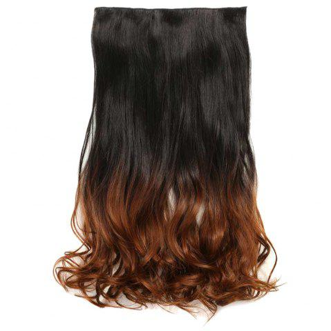 Chic 1Pc Wavy Medium Two Tone Clip In Hair Extensions